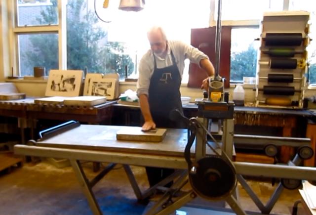 Scott Schnepf in Print studion